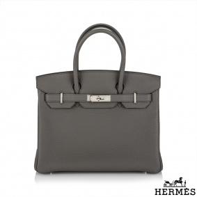 Hermès Birkin 30 Etain Togo PHW